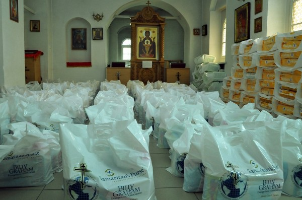 Department for External Church Relations and Samaritan's Purse humanitarian organization provide aid to refugees from Ukraine