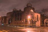 Prayers resume at Greek Orthodox church devastated by fire