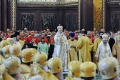 Primate of the Russian Orthodox Church celebrates at the Cathedral of Christ the Saviour on the commemoration day of Sts Cyril and Methodius