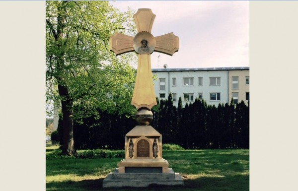 Cross-monument is blessed in the Orthodox monastery in Gotschendorf on the eve of the 70th anniversary of the Great Victory