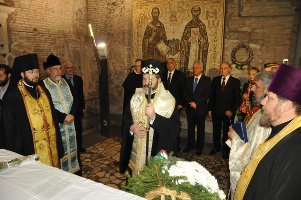 Thanksgiving said in Rome, at the relics of St Cyril, Equal-To-The-Apostles, on the name day of the Primate of Russian Church