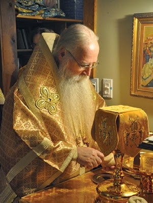 His Holiness Patriarch Kyrill congratulates Bishop George of Canberra on his 65th birthday