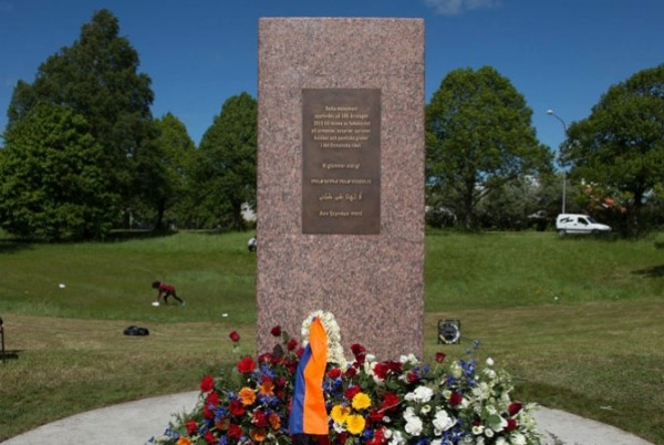 First Armenian Genocide Memorial Inaugurated in Sweden