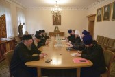 Metropolitan Hilarion of Volokolamsk meets with members of the commission of the Holy Kinot of Mount Athos