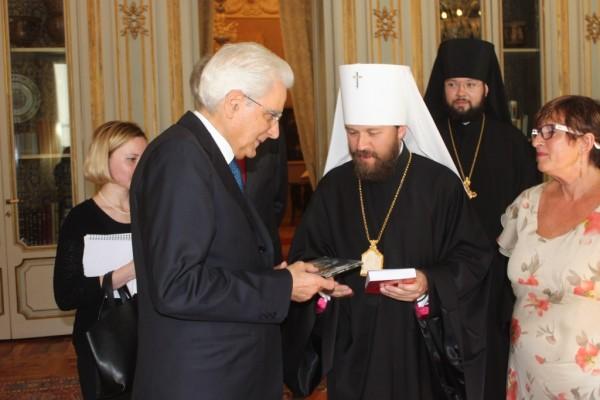 Metropolitan Hilarion of Volokolamsk meets with Italian President Sergio Mattarella