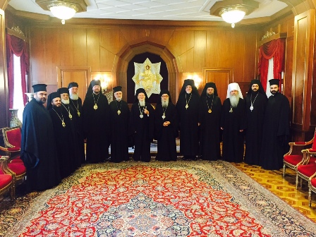 Executive Committee of the Assembly of Bishops Meets with Ecumenical Patriarch Bartholomew