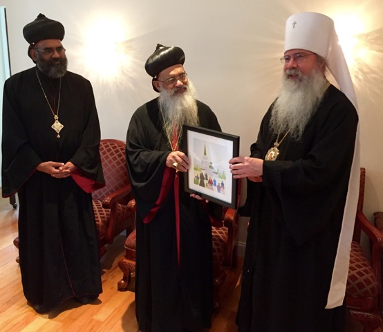 Metropolitan Tikhon meets with Malankarese Catholicos