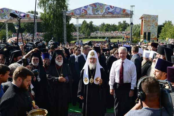 Patriarch Kirill attends reception by Moscow Mayor on occasion of millennium of St Vladimir's demise