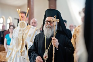 Patriarch John X Visits Holy Cross…