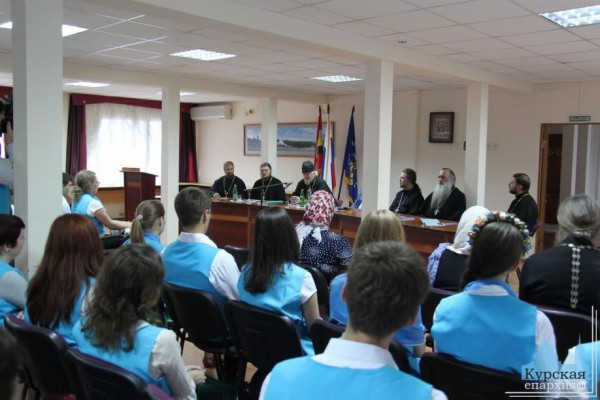 """Metropolitan German meets with participants of the 8th International Conference """"Concord of Orthodox Youth"""""""