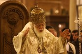 His Holiness Patriarch Kirill greets Primate of Georgian Orthodox Church with his name day