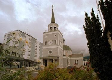 Torrential rains threaten Sitka's historic Archangel Michael Cathedral