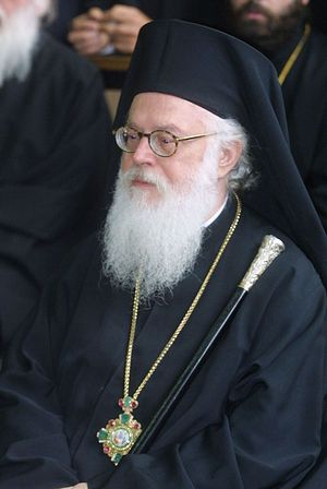 Primate of Russian Orthodox Church congratulates His Beatitude Archbishop Anastasios of Tirana and all Albania on the anniversary of his enthronement