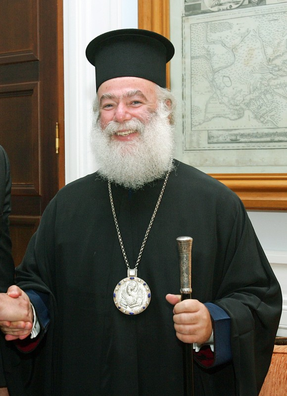 Patriarch Theodore of Alexandria arriving to Russia