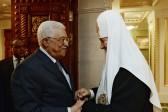 Patriarch Kirill meets with Palestinian President Mahmoud Abbas