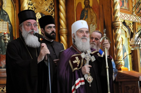 """His Holiness Patriarch Irinej Visits San Francisco's Cathedral of the Mother of God """"Joy of All Who Sorrow"""""""