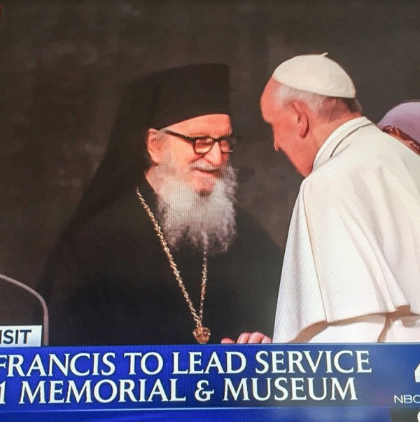Archbishop Demetrios Participates in Multi-religious Gathering with Pope Francis at 9/11 Memorial