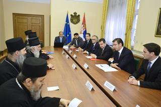 Serbian Prime Minister and Patriarch Irinej discuss balance between politics, economy
