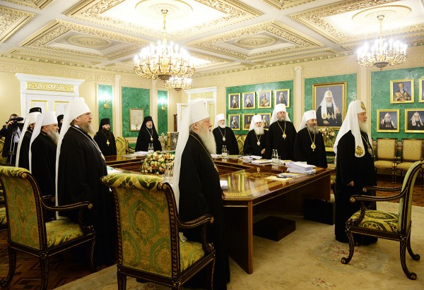 Holy Synod of the Russian Orthodox Church begins its regular session under the chairmanship of His Holiness Patriarch Kirill