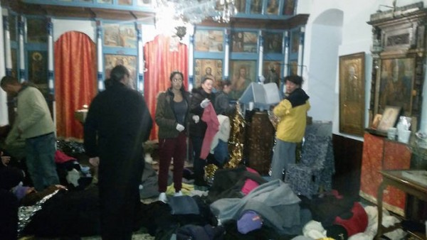 Greek Orthodox Churches Become Makeshift Shelters for Refugees on Lesvos