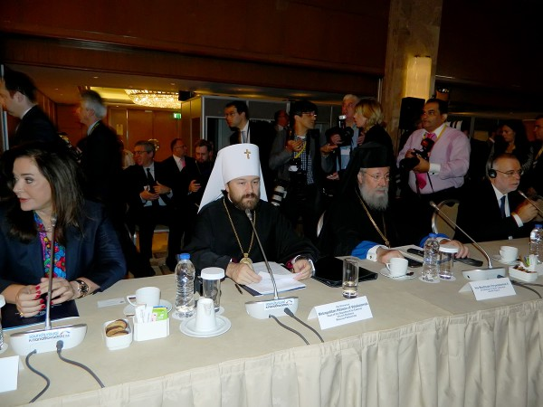 At the largest ever conference on the Middle East, Metropolitan Hilarion calls to defend Christians