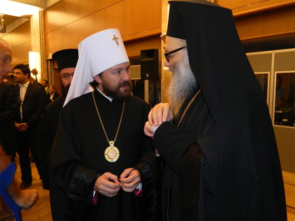Metropolitan Hilarion meets with Patriarch John X of Antioch