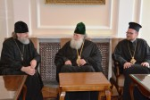 Patriarch Neophytos of Bulgaria receives a delegation of the Russian Orthodox Church