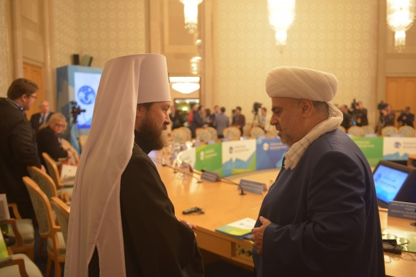 Metropolitan Hilarion of Volokolamsk chairs plenary session of the Religion and Peace International Forum