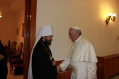 Metropolitan Hilarion meets with Pope Francis