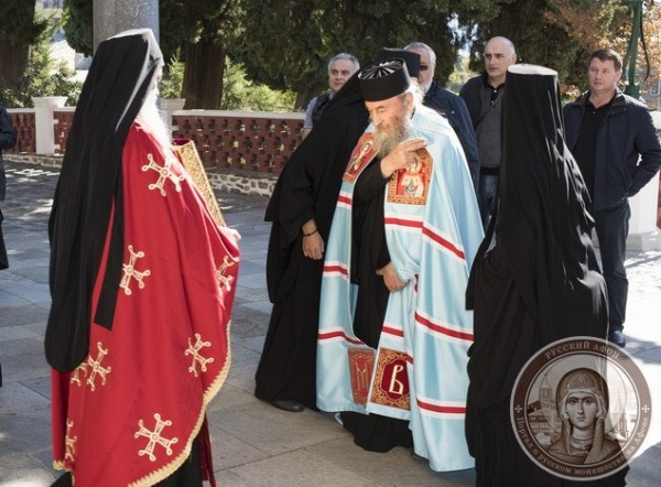 Primate of the Ukrainian Orthodox Church visits Mt. Athos