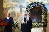 Head of the State and Primate of the Russian Orthodox Church open 'Orthodox Russia' exhibition in Moscow