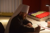 Metropolitan Hilarion visits French embassy in Russia to extend condolences to French people