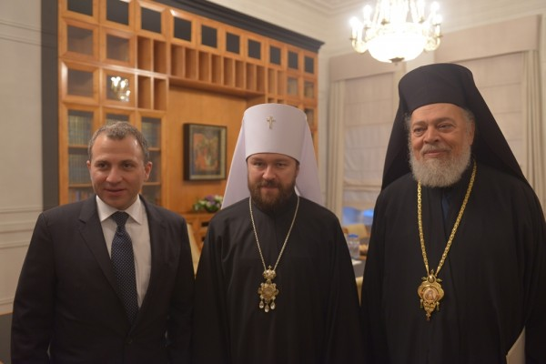 Metropolitan Hilarion meets with Minister of Foreign Affairs of Lebanon