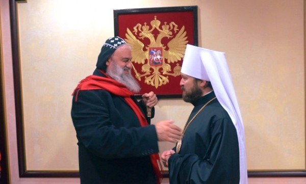 Head of Syriac Orthodox Church arrives in Russia