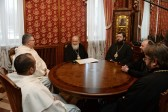 His Holiness Patriarch Kirill receives Prior and Administrator of Basilica of St. Nicholas
