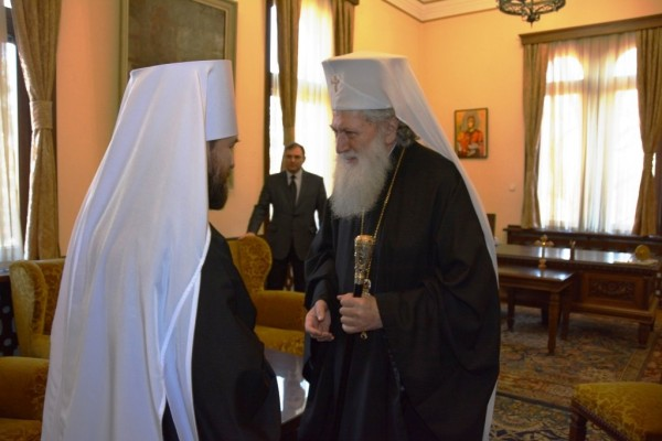 Metropolitan Hilarion meets with Patriarch Neofit of Bulgaria