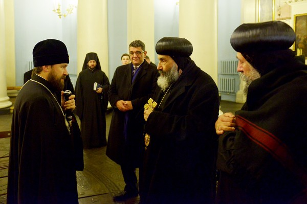 Metropolitan Hilarion of Volokolamsk meets with hierarchs of the Coptic Church