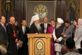 We won't respond to violence with hatred, religious leaders say