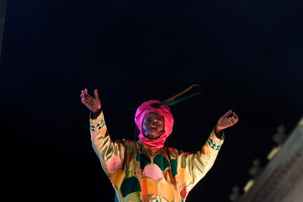 A performer dressed as Baltasar waves to the crowd in Madrid Pablo Blazquez Dominguez/Getty Images