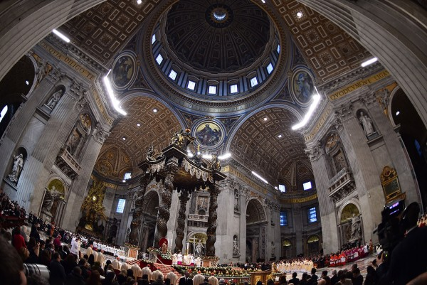 Pope Francis leads the Epiphany mass (Three Kings' Day) at St Peter's Basilica in the Vatican Gabriel Bouys/AFP
