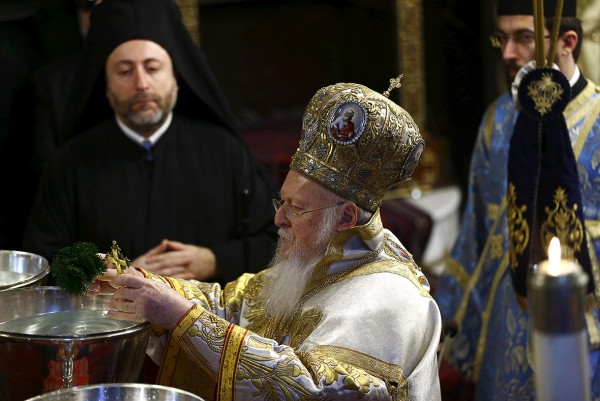 Greek Orthodox Ecumenical Patriarch Bartholomew leads the Epiphany ceremony in Istanbul, Turkey Murad Sezer/Reuters