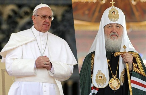 Patriarch Kirill congratulates the pontiff on his 80th birthday with an icon of St. Seraphim of Sarov