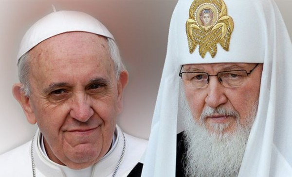 The Russian Church official considers symbolic that the patriarch meets with the pope 'at a crossroad'
