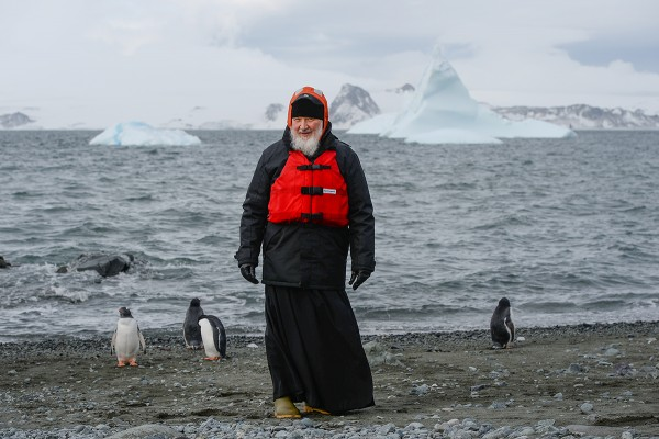 Patriarch Kirill says penguins remind him of paradise