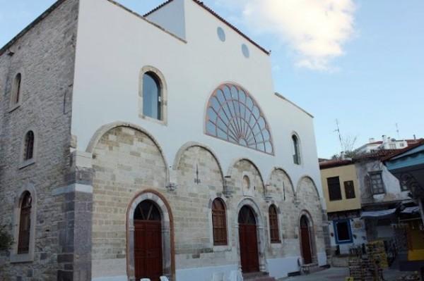 Ecumenical Patriarch Performs Liturgy in the Cesme Greek Orthodox Church