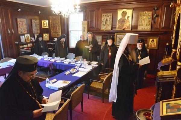 Metropolitan Tikhon opens Holy Synod Spring Session