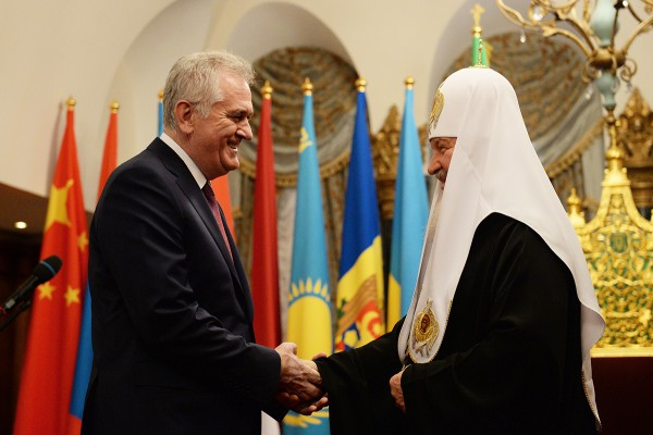 His Holiness Patriarch Kirill meets with Serbian President Tomislav Nicolić