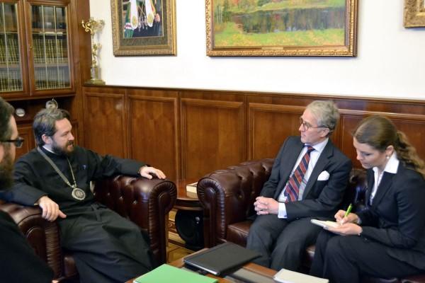 Metropolitan Hilarion meets with German Ambassador to Russia