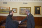 Metropolitan Hilarion meets with British Ambassador in Russia