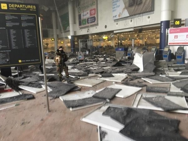 Many killed as Brussels airport and metro rocked by three explosions